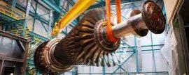 Nueva turbina de gas Alstom para la planta de ciclo combinado que ACS esta construyendo en  El Sauz