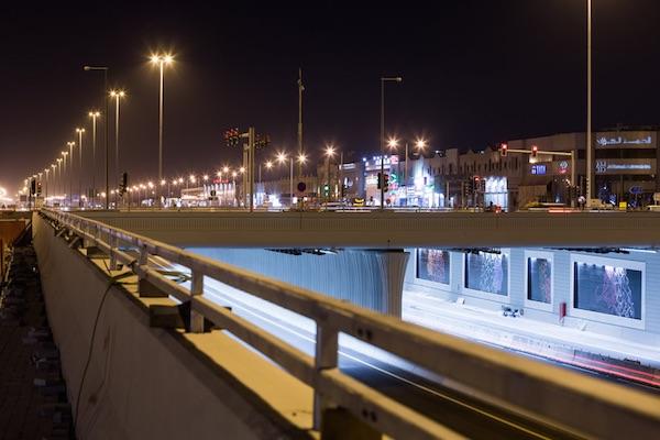 doha tunnel and steet lighting outdoor qatar1