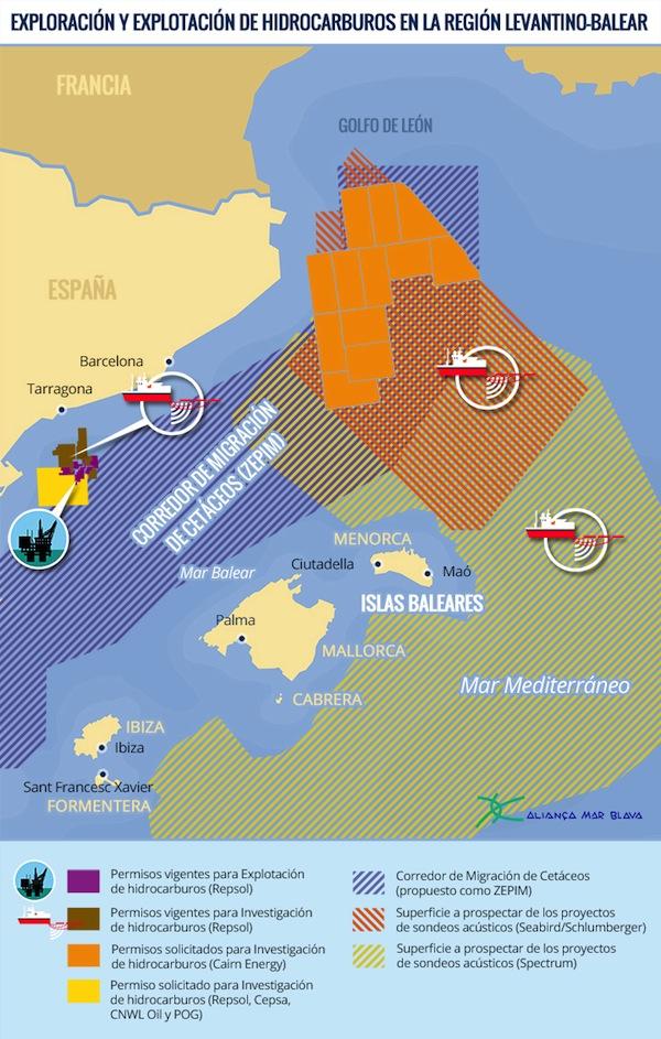 151001 mapa proyectos en  demarcacion levantino-balear