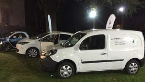 Vehículos eléctricos en la Embajada de Francia