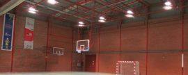 Iluminación eficiente LED en un pabellón deportivo de Valladolid