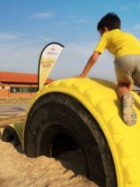 Un parque infantil que genera energía sostenible y está hecho con neumáticos reciclados