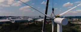 El nuevo aerogenerador nED100 de Norvento para autoconsumo industrial produce hasta 400 MWh/año