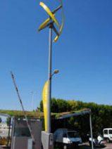 Estacion de recarga para vehiculos electricos con tecnología eolica