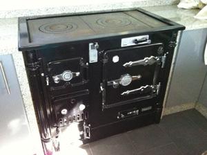 Chimenea calefactora y cocina econ mica para climatizaci n - Cocinas bilbainas de lena ...