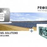PROINSO apuesta por los sistemas híbridos PV-DIESEL, motores con fotovoltaica y diesel