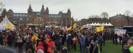 El mundo atento a la cumbre del clima COP21 en Paris. Acudimos a la Klimaat Parade en Amsterdam