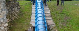 """El Proyecto Hidrotor explora cuánta electricidad genera un """"tornillo Arquímedes"""""""