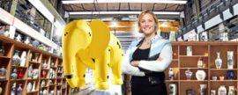 Vicki Butler contra el elefante Jimbo