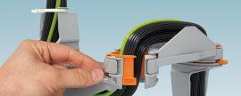 Nuevos sistema de guía de cables articulado y sistema de distribución de energía de Phoenix Contact