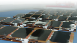 Paneles solares para satélites