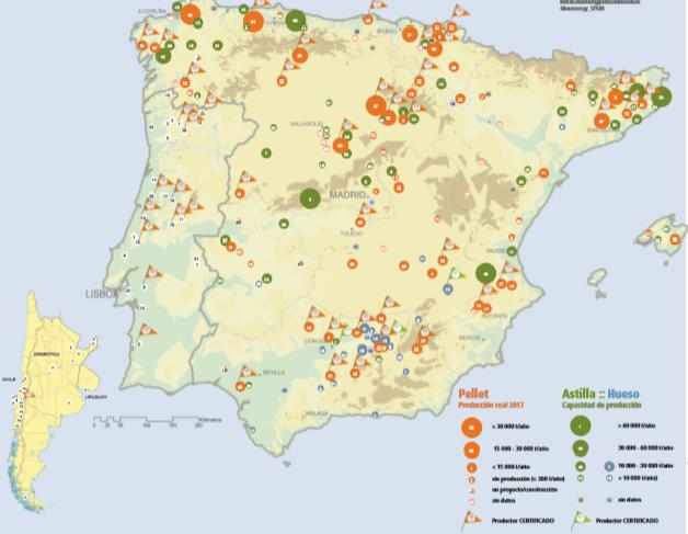 Mapa de los Biocombustibles Sólidos