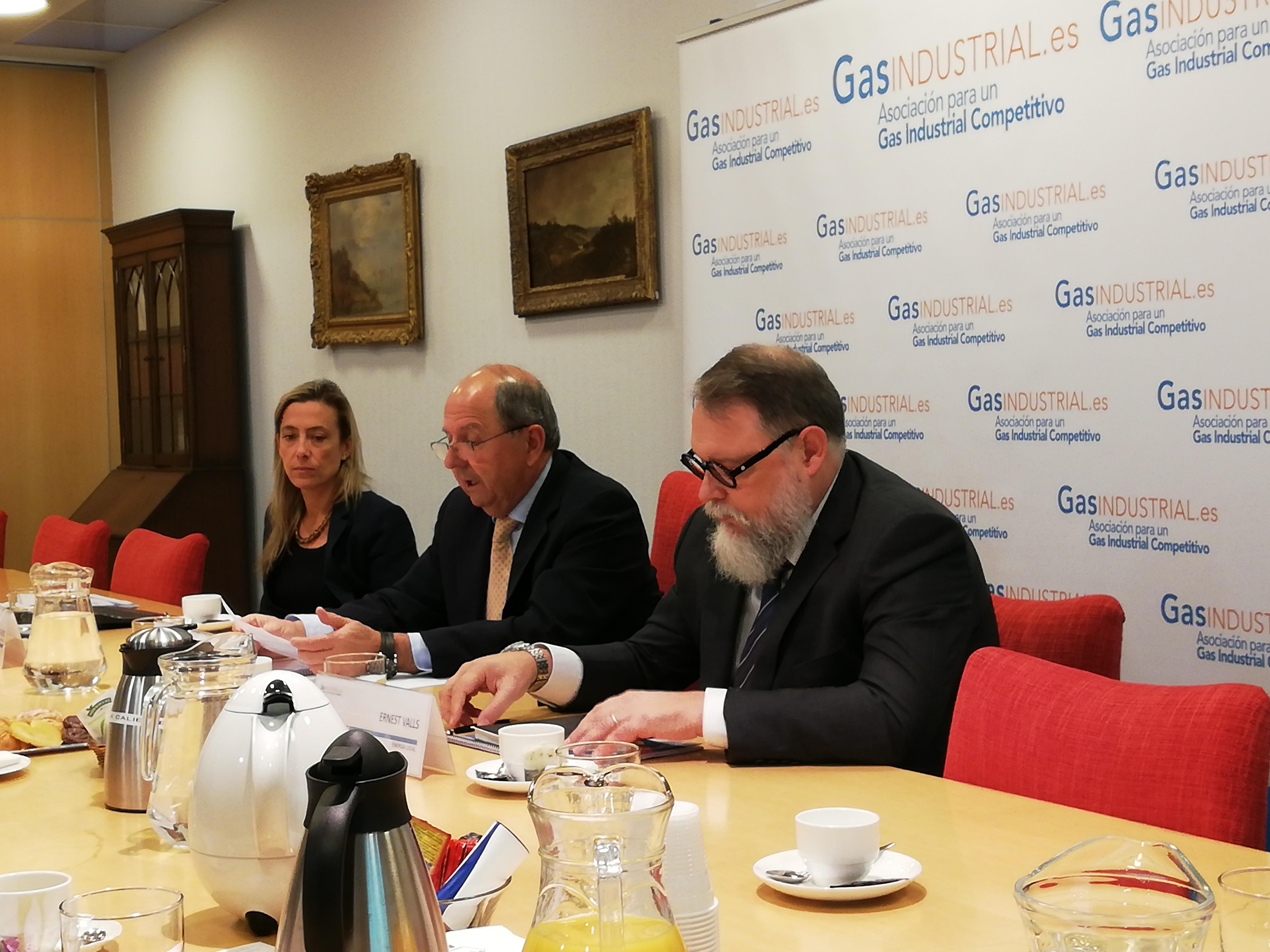 consumo industrial de gas