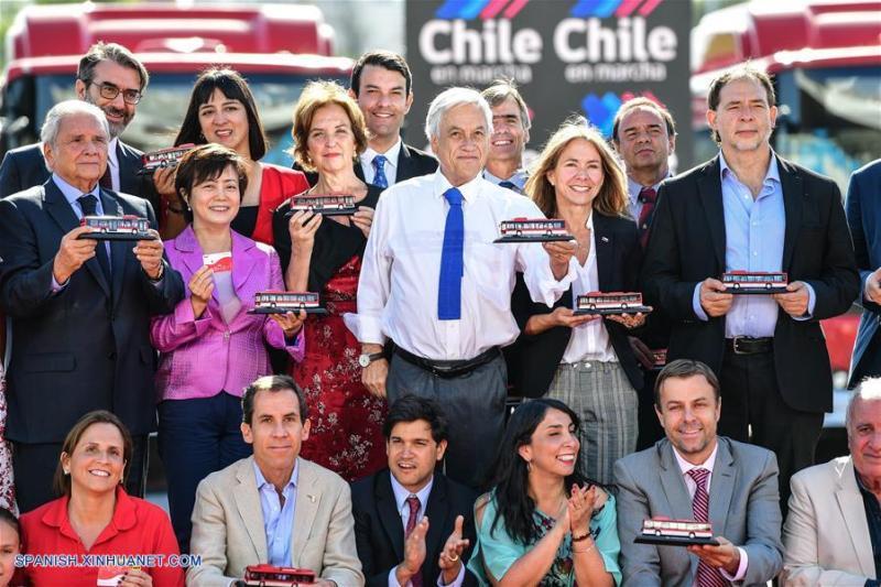 autobuses eléctricos chinos en Chile