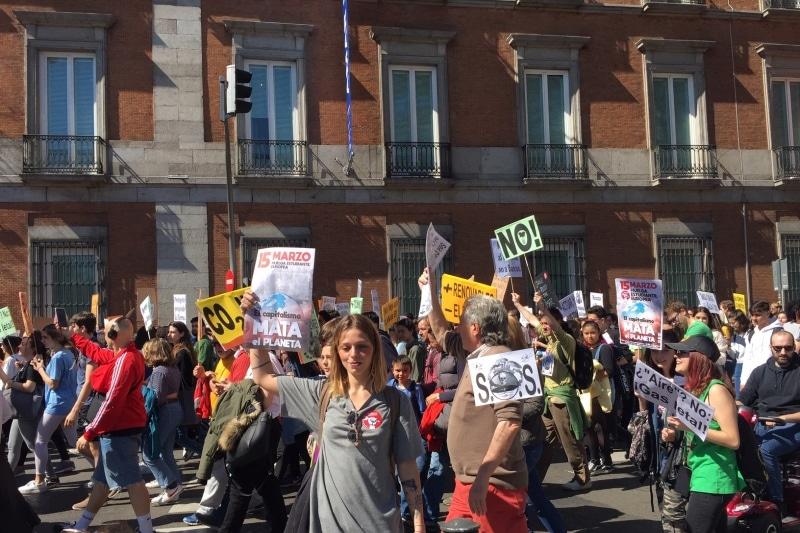 Manifestación, huelga 15-M por el Clima, Fridays for Future