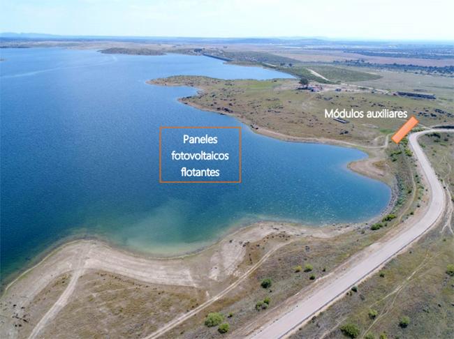 Embalse de Sierra Brava. Localización futura de la planta. FOTO: Informe medioambiental.