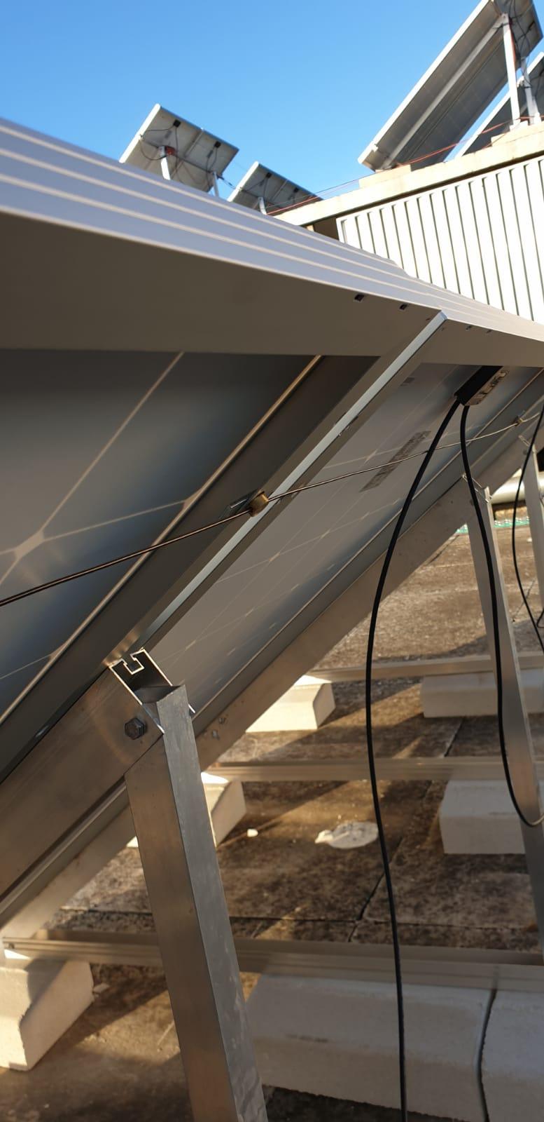 sistema de seguridad para paneles solares