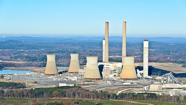 Bowen Steam Plant, central de carbón junto a Euharlee, Georgia, Estados Unidos.
