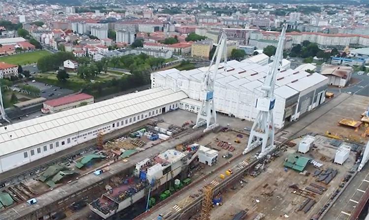 Astillero de Navantia en Ferrol.