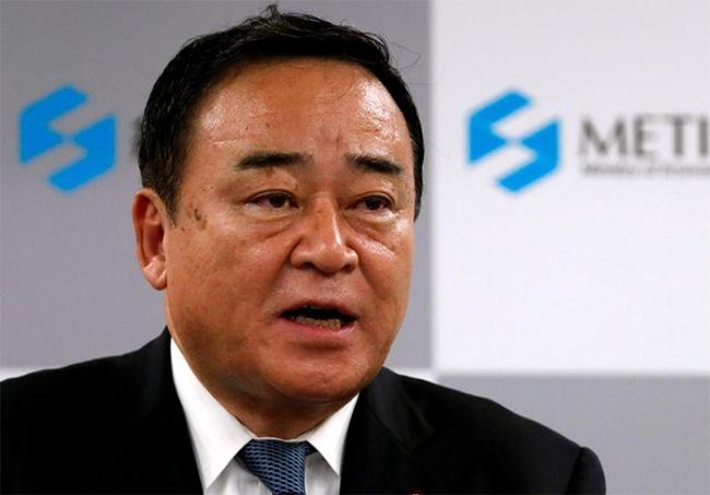 Ministro de Economía, Comercio e Industria de Japón, Hiroshi Kajiyama. Foto: Reuters.