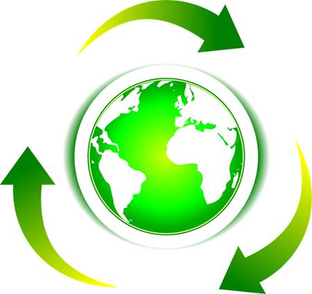 Materiales reciclados, uno de los pilares de la economía circular.