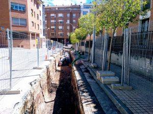 Obras de la red de calor de Soria.