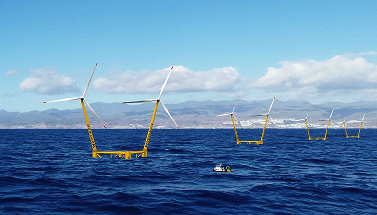 Los proyectos CANARRAY I y II se desarrollarán en aguas profundas de Gran Canaria.