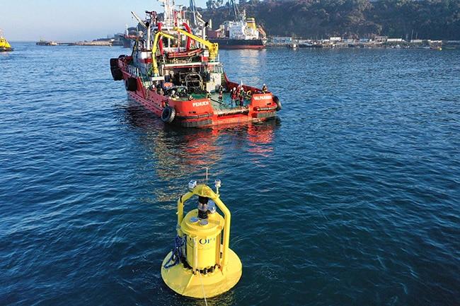 Convertidor de energía de olas. EGP Chile.