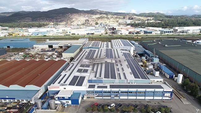 Centro de producción de Nueva Pescanova en O Porriño.