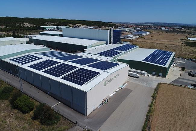 Instalación de autoconsumo de EiDF Solar para Frinavarra